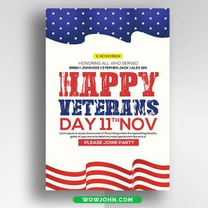 Free Veterans Day Card Psd Template
