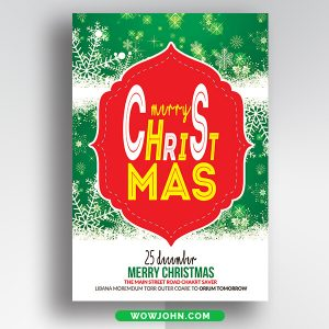 Free Watercolor Christmas Greeting Card Psd Template