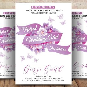 Free Wedding Invitation Card Psd Template