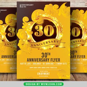 Free 30th Anniversary Psd Flyer Template