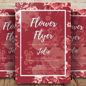 Free Flower Flyer Psd Template