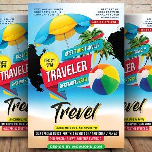 Free Island Travel Tour Flyer Psd Template