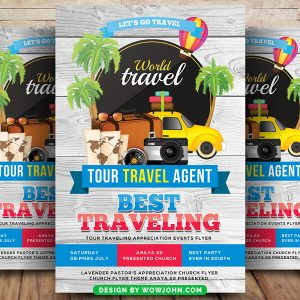 Free Tour Travel Agent Flyer Psd Template