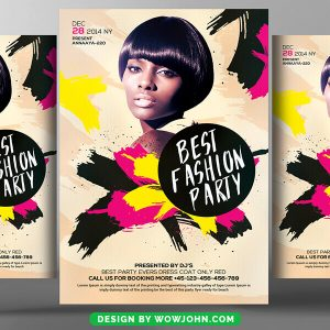 Free Fashion Night Party Flyer PSD Template
