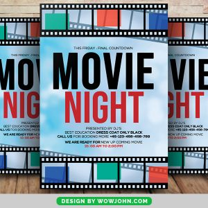Free Movie Night Flyer Templates Download