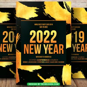 2022 Free New Year Flyer Psd Template
