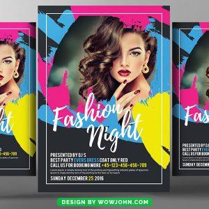 Free Fashion Night Flyer Psd Template