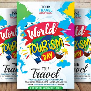 Free Tourism Agency Flyer Psd Template