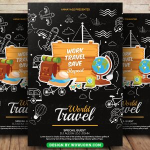 Free Holiday Tour Travel Flyer Psd Template