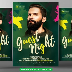 Free Dj Guest Party Flyer Psd Template