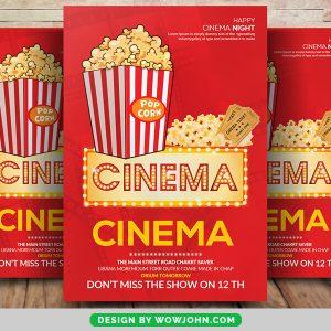 Free Movie Cinema Psd Flyer Template