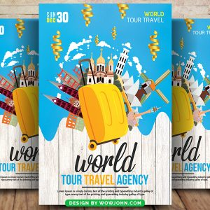 Free Tour Travel Company Flyer Psd Template