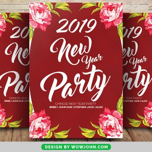 Free 2022 New Year Party Bash Flyer Psd Template