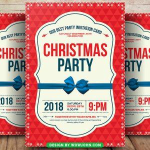 Free 2021 Christmas Church Flyer Psd Template