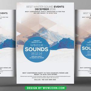 Free Winter Sounds Flyer Psd Template