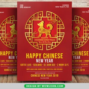 2022 Chinese New Year Sale Flyer Psd Template