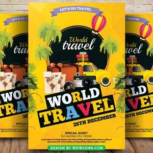 Free Island Tour Travel Flyer Psd Template