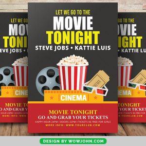 Movie Tonight Flyer Free Psd Template