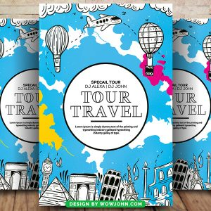 Free Travel Agency Flyer Psd Template