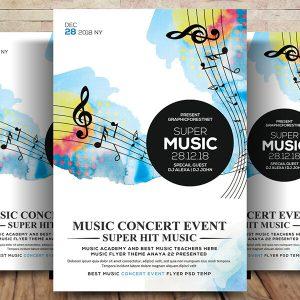Free Music Concert Flyer Psd Template