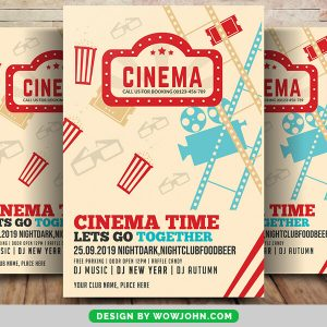 Cinema Film Poster Flyer Free Psd Template