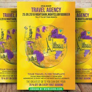 Free Tourist Travel Tour Flyer Psd Template