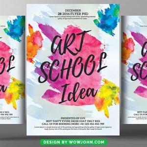 Free Art School Training Flyer Psd Template