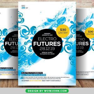 Electro Abstract Future Psd Flyer Template