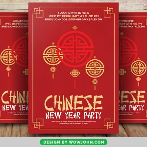 Free 2022 Chinese New Year Poster Flyer Psd