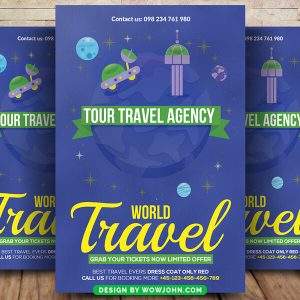 Vacation Travel Tour Flyer Psd Template