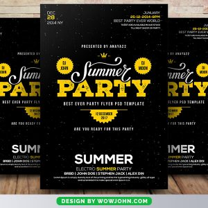 Free Summer Party Flyer Psd Template