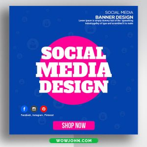 Free Instagram Banner Ads Psd Template