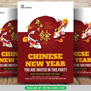 Free Chinese New Year Flyer Psd Template