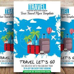 International Travel Tour Flyer Psd Template