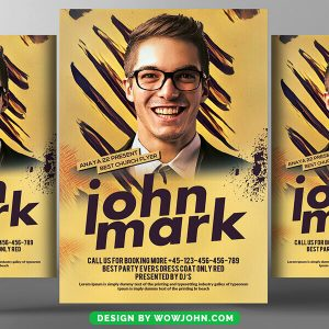 Free Special Guest Flyer Psd Template