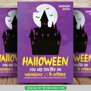 Free Halloween Night Flyer Psd Template
