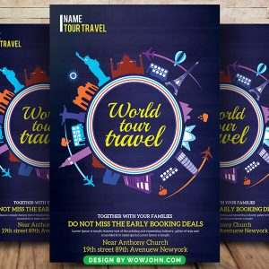 Free Tour Travel Flyer Psd Template Download