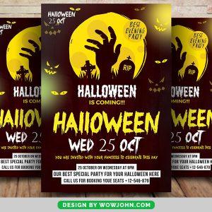 Free Halloween Event Flyer Psd Template