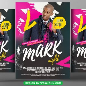 Free Hip Hop Party Flyer Psd Template