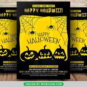 Free Spooky Halloween Party Flyer Psd Template