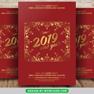 Free 2022 New Year Party Event Flyer Psd Template