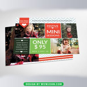 Free Christmas Mini Sessions Card Psd Template