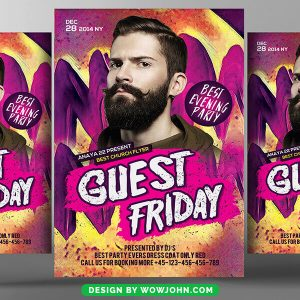 Free Guest Night Club Party Flyer Psd Template