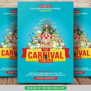 Free Carnival Show Flyer Psd Template