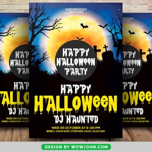 Free Halloween Vampire Party Flyer Psd Template