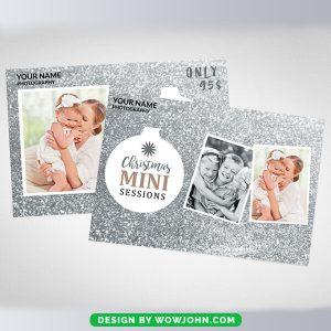Christmas Mini Sessions Card Psd Template