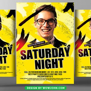 Free Saturday Night Club Flyer Psd Template