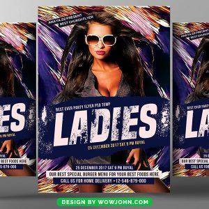 Free Ladies Night Club Flyer Psd Template