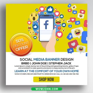 Free Create Social Media Banners Psd Template