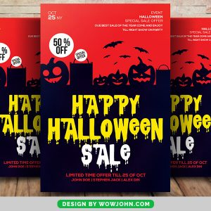 Free 2021 Halloween Night Party Flyer Psd Template